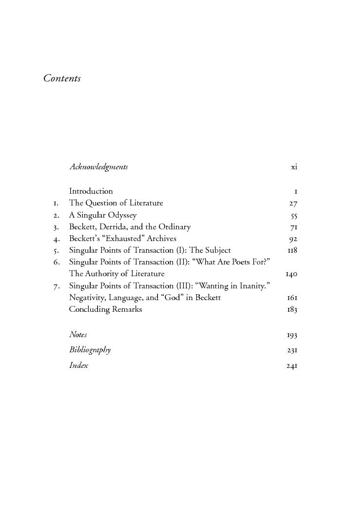 Beckett Derrida And The Event Of Literature Asja Szafraniec