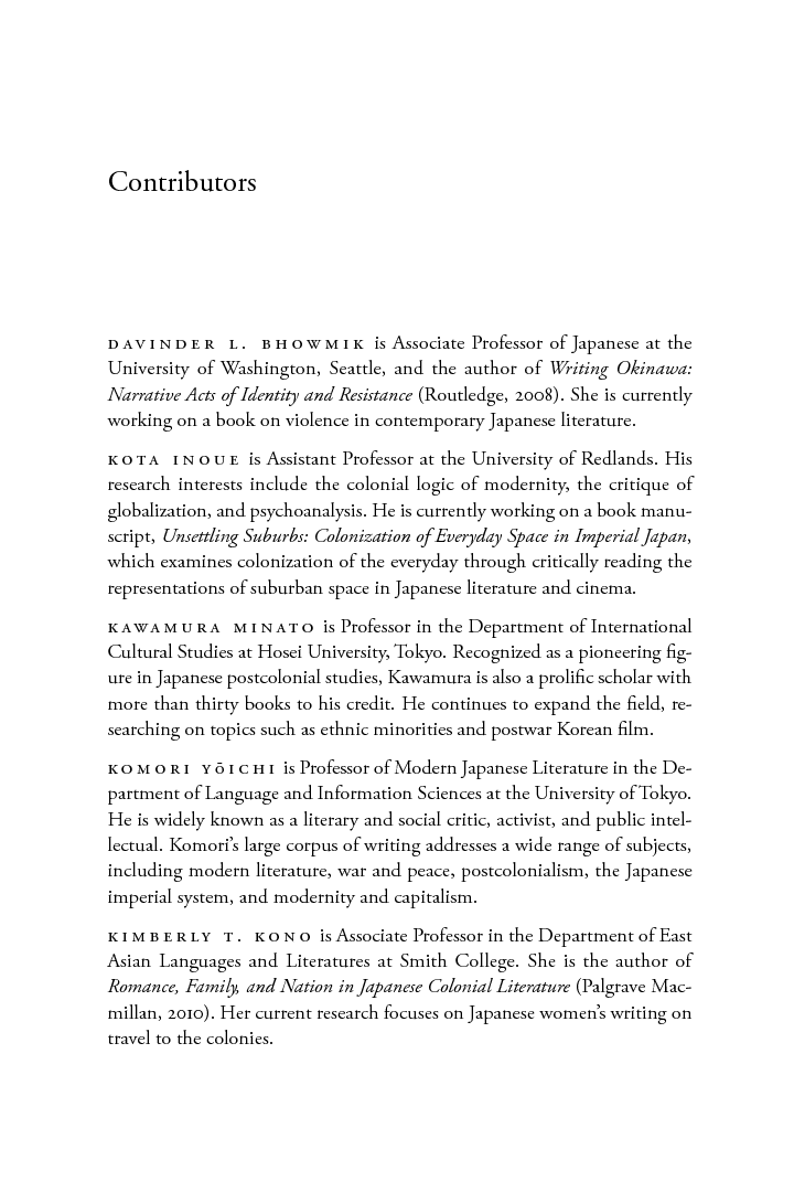 Reading Colonial Japan Text Context And Critique  Edited By  Reading Colonial Japan Text Context And Critique  Edited By Michele M  Mason And Helen Js Lee