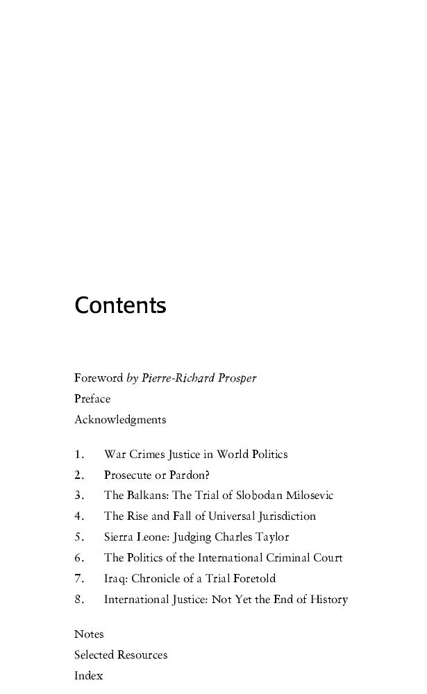 Global Justice: The Politics of War Crimes Trials