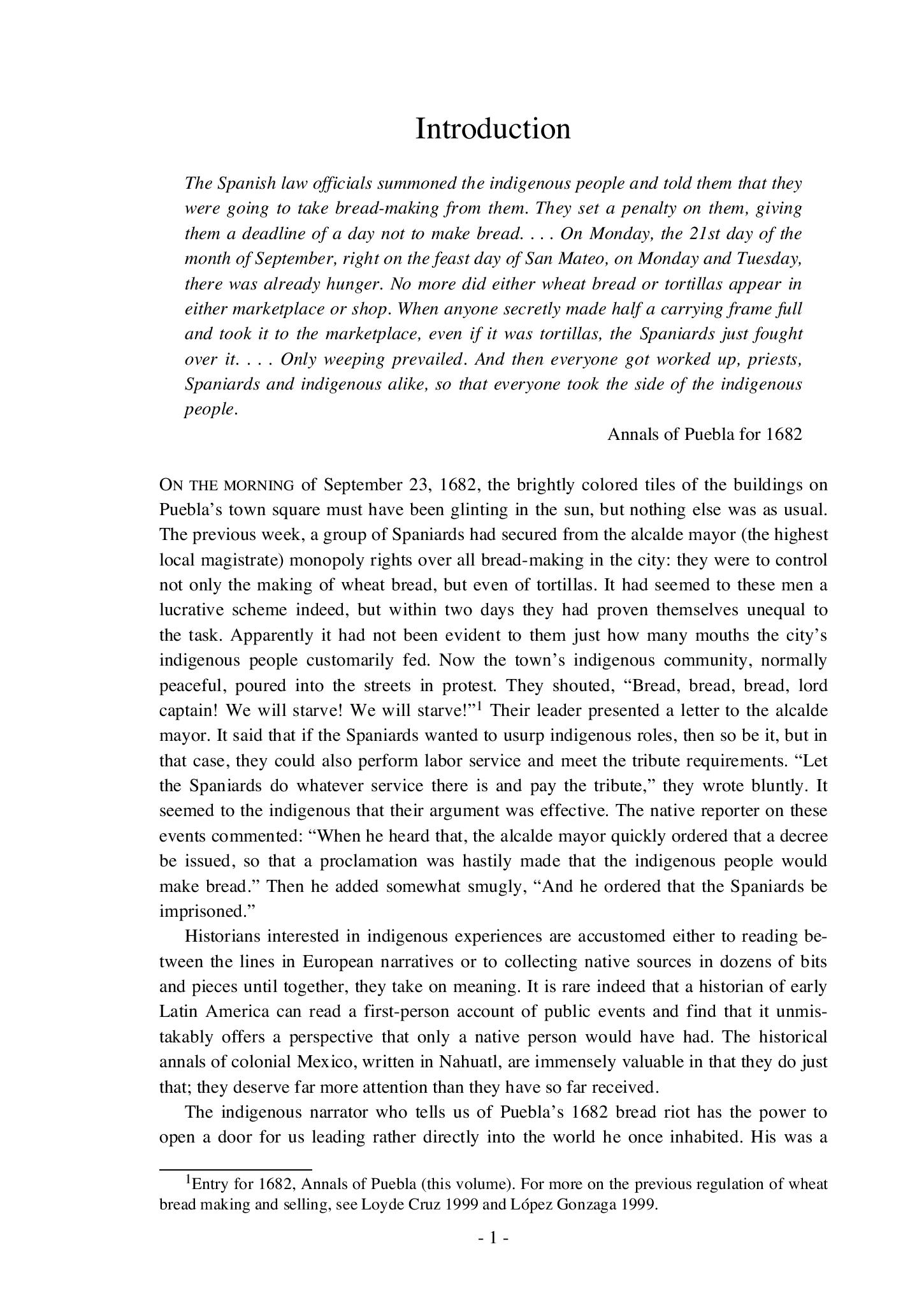 Examples List on Excerpt