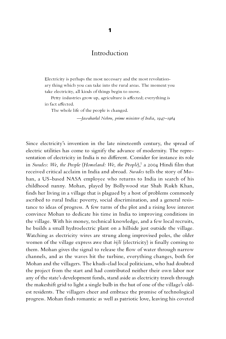 Start Reading Electrifying India  Sunila S Kale Image Of Page From Boook     Persuasive Essay Sample Paper also Thesis For An Essay  Great Gatsby Essay Thesis