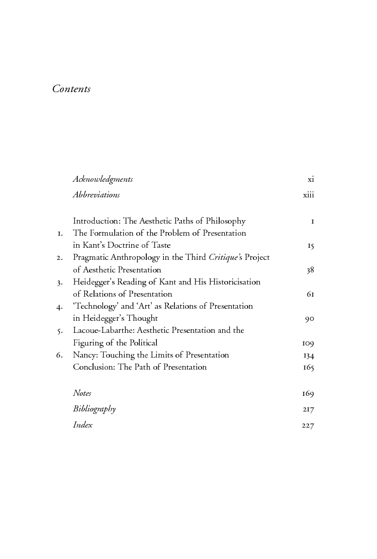 The Aesthetic Paths of Philosophy: Presentation in Kant, Heidegger ...