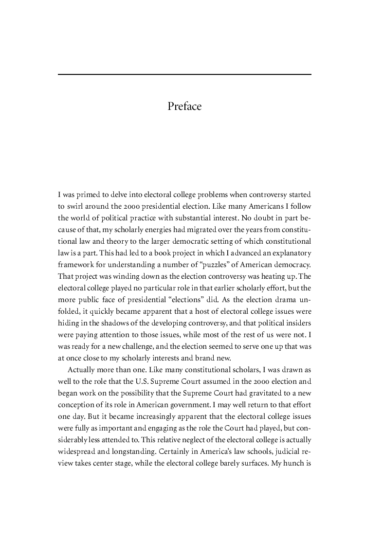 what is preface in thesis