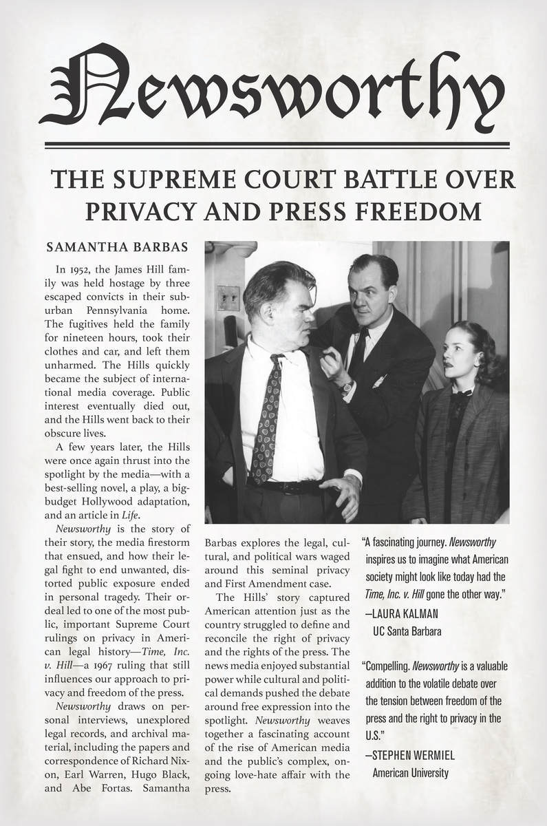 Cite Newsworthy: The Supreme Court Battle over Privacy and Press Freedom | Samantha Barbas
