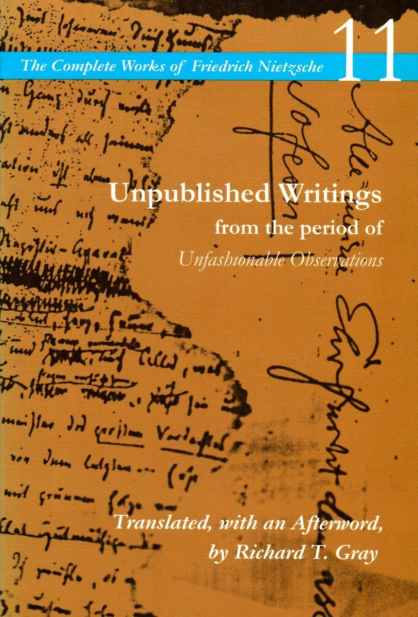 Writings from the Early Notebooks Nietzsche