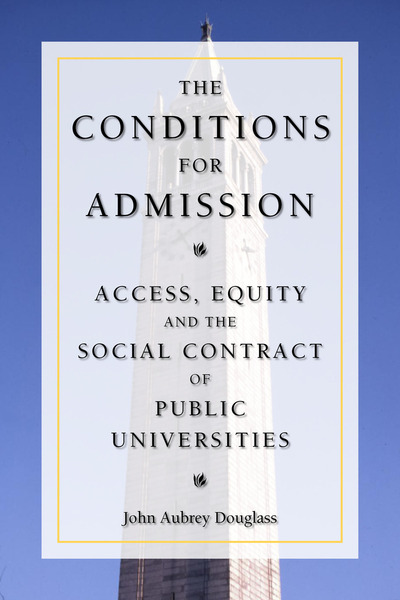 Cover of The Conditions for Admission by John Aubrey Douglass