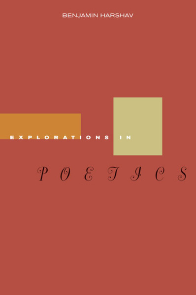 Cover of Explorations in Poetics by Benjamin Harshav
