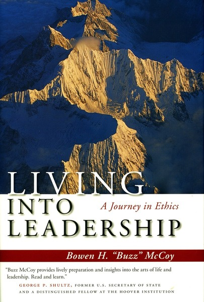 "Cover of Living Into Leadership by Bowen H. ""Buzz"" McCoy"