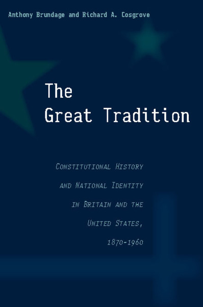 Cover of The Great Tradition by Anthony Brundage and Richard A. Cosgrove