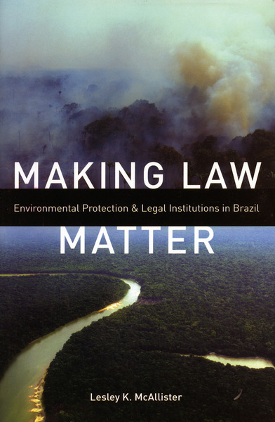 Cover of Making Law Matter by Lesley K. McAllister