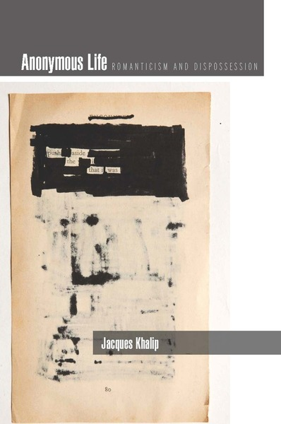 Cover of Anonymous Life by Jacques Khalip