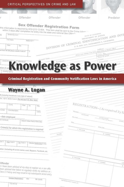 Cover of Knowledge as Power by Wayne A. Logan