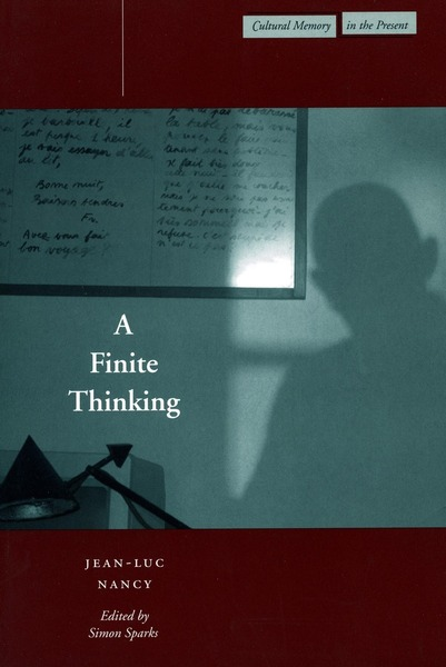 Cover of A Finite Thinking by Jean-Luc Nancy