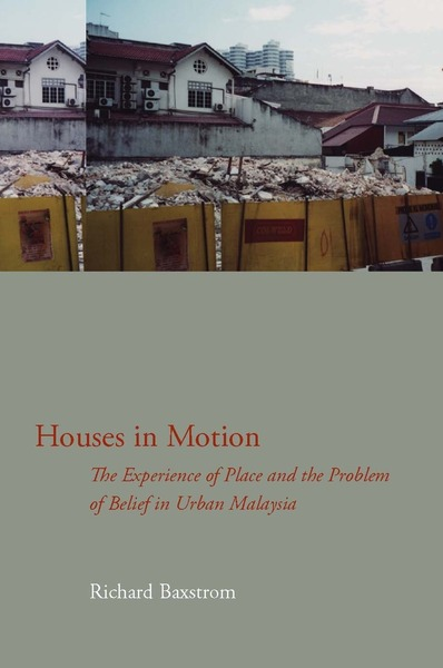 Cover of Houses in Motion by Richard Baxstrom