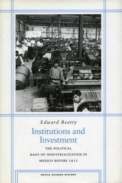 Cover of Institutions and Investment by Edward Beatty