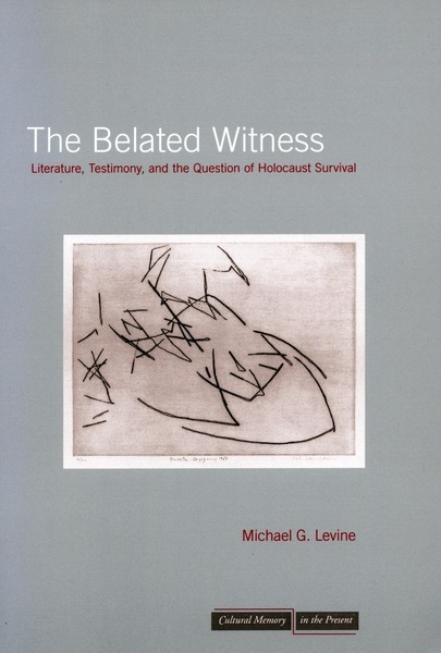 Cover of The Belated Witness by Michael G. Levine