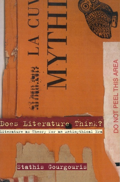 Cover of Does Literature Think? by Stathis Gourgouris