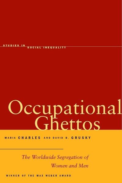 Cover of Occupational Ghettos by Maria Charles and David B. Grusky