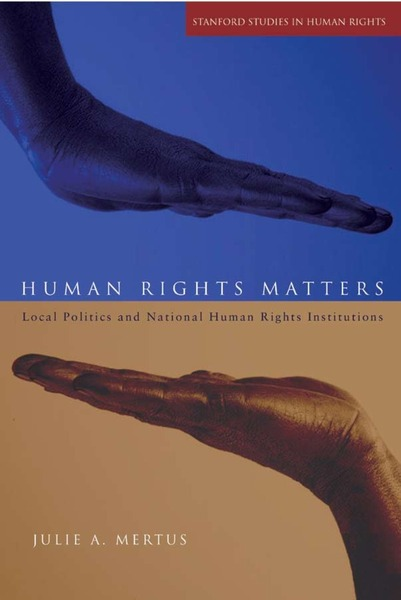 Cover of Human Rights Matters by Julie A. Mertus