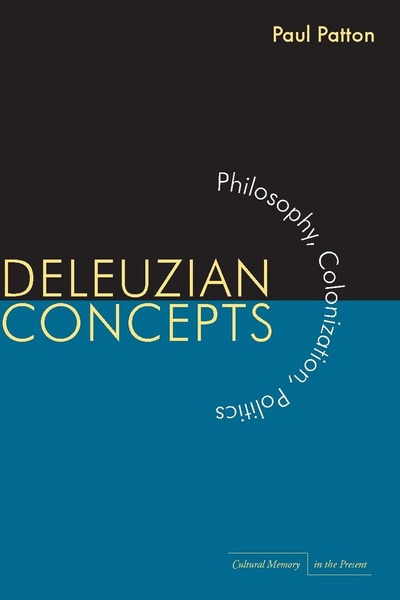 Cover of Deleuzian Concepts by Paul Patton