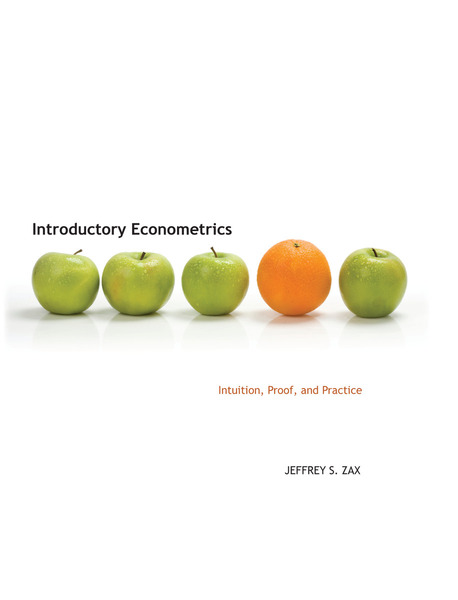 Cover of Introductory Econometrics by Jeffrey S. Zax