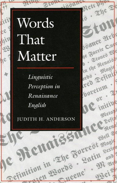 Cover of Words That Matter by Judith H. Anderson
