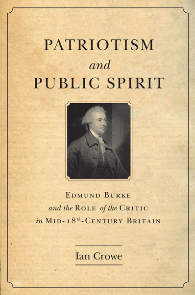 Cover of Patriotism and Public Spirit by Ian Crowe