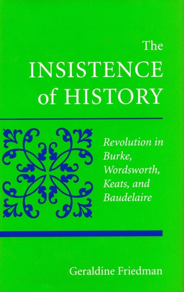 Cover of The Insistence of History by Geraldine Friedman