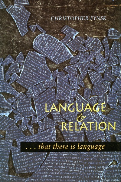Cover of Language and Relation by Christopher Fynsk