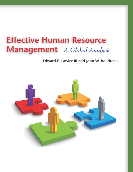 Cover of Effective Human Resource Management by Edward E. Lawler III and John W. Boudreau