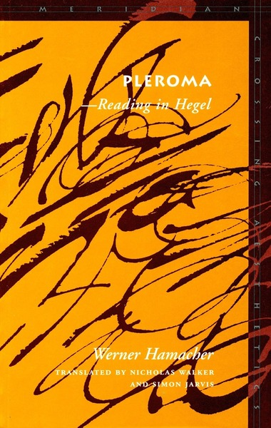 Cover of Pleroma by Werner  Hamacher