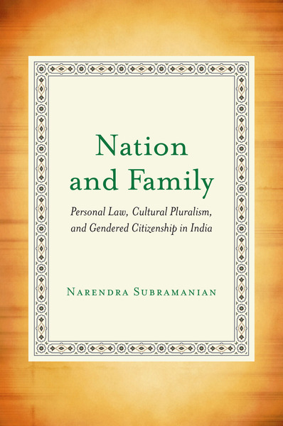 Cover of Nation and Family by Narendra Subramanian