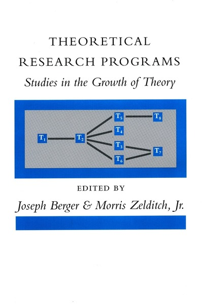 Cover of Theoretical Research Programs by Edited by Joseph Berger and Morris Zelditch, Jr.