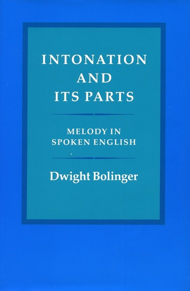 Cover of Intonation and Its Parts by Dwight Bolinger