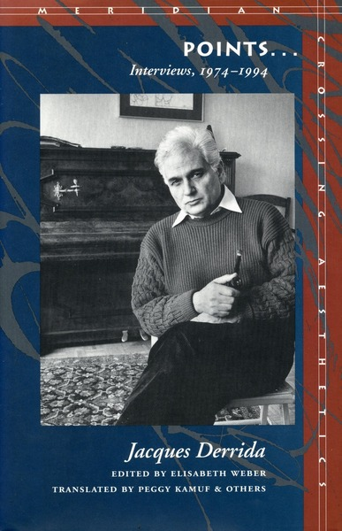 Cover of Points... by Jacques Derrida