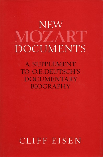 Cover of New Mozart Documents by Cliff Eisen