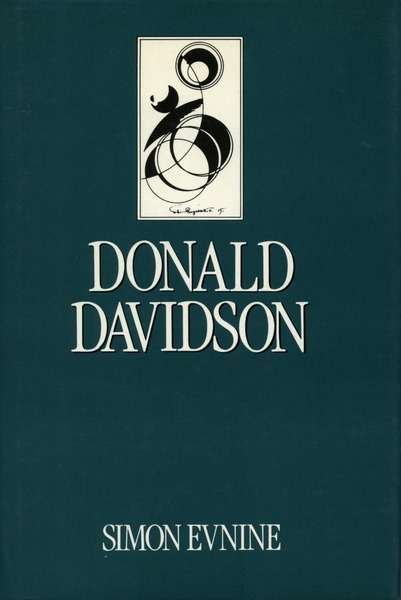 Cover of Donald Davidson by Simon Evnine