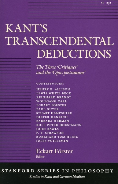 Cover of Kant's Transcendental Deductions by Edited by Eckart Förster
