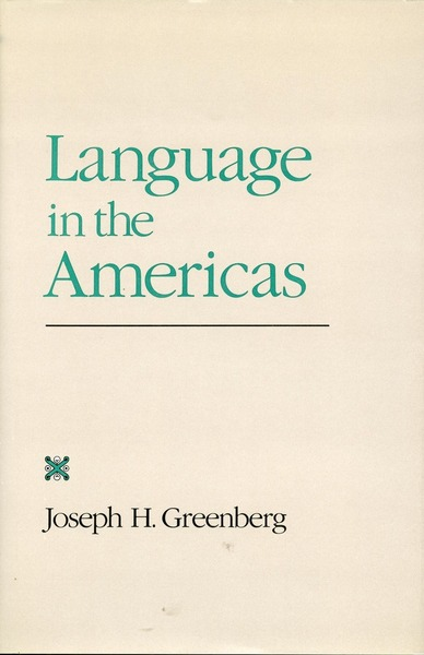 Cover of Language in the Americas by Joseph H. Greenberg