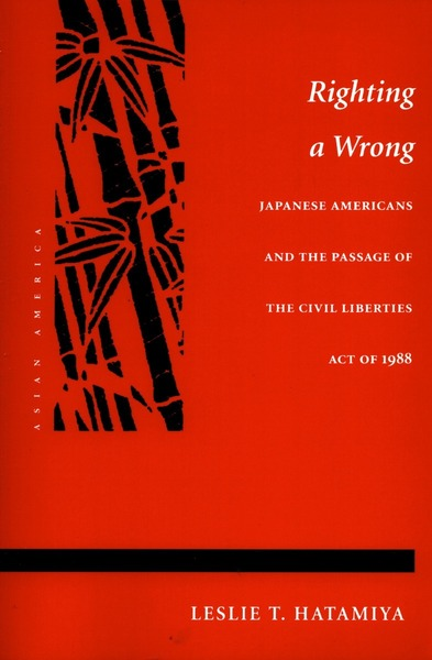 Cover of Righting a Wrong by Leslie T. Hatamiya