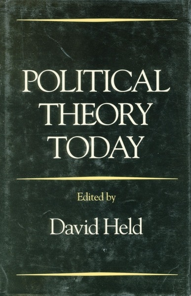 Cover of Political Theory Today by Edited by David Held