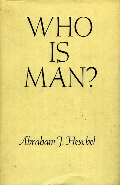 Cover of Who Is Man? by Abraham J. Heschel