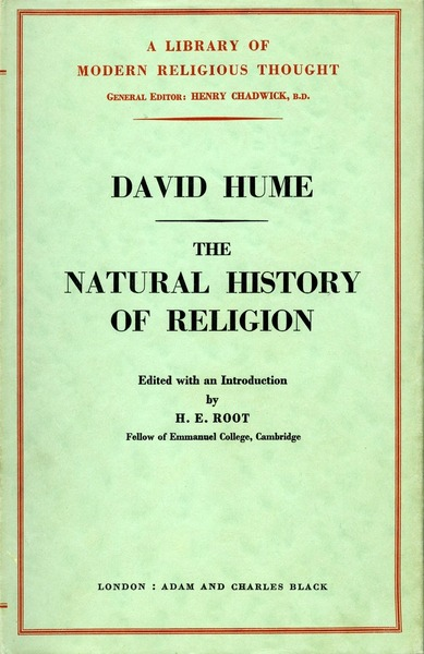 Cover of The Natural History of Religion by David Hume Edited by H. E. Root