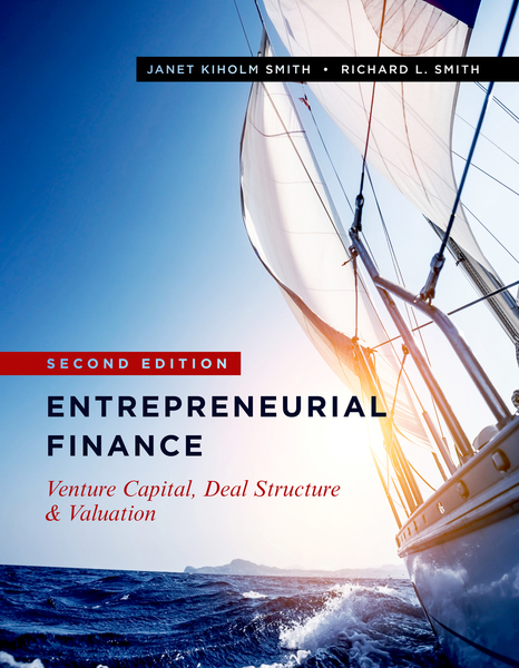 Cover of Entrepreneurial Finance by Janet Kiholm Smith and Richard L. Smith