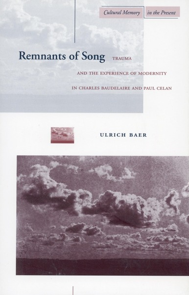 Cover of Remnants of Song by Ulrich Baer