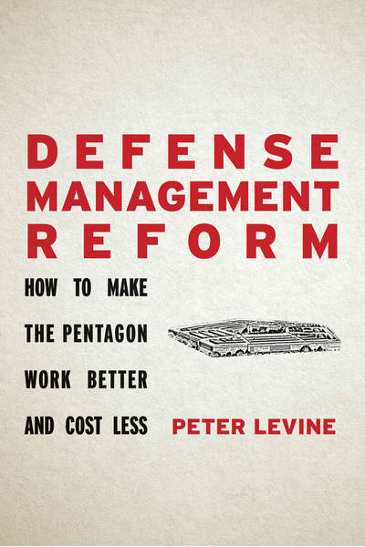 Cover of Defense Management Reform by Peter Levine