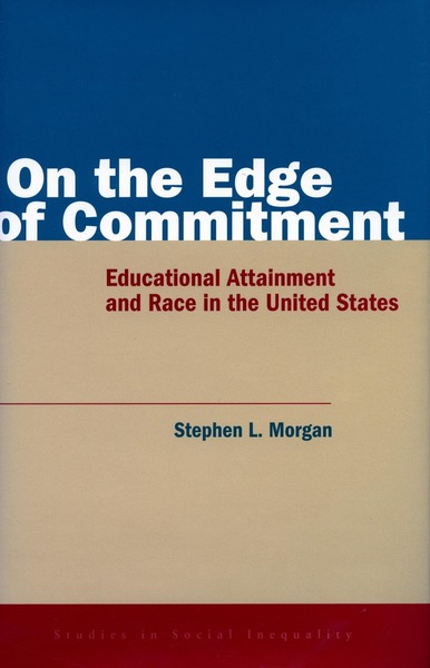Cover of On the Edge of Commitment by Stephen L. Morgan