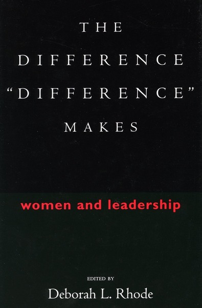 "Cover of The Difference ""Difference"" Makes by Edited by Deborah L. Rhode"