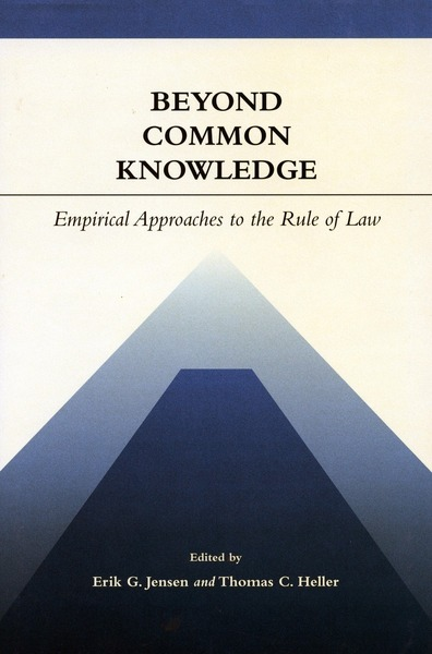 Cover of Beyond Common Knowledge by Edited by Erik G. Jensen and Thomas C. Heller