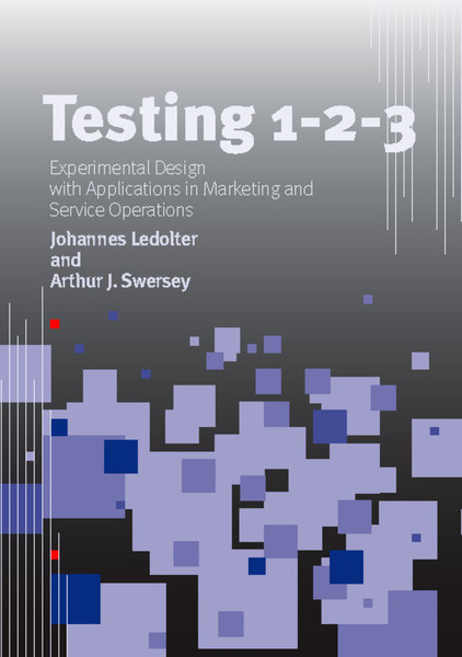 Cover of Testing 1 - 2 - 3 by Johannes Ledolter and Arthur J. Swersey
